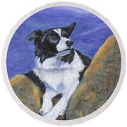 Breagh Lass Round Beach Towel