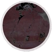 Round Beach Towel featuring the digital art Breaking Bad Concrete Wall by Brian Reaves