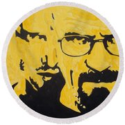 Breaking Bad Yellow Round Beach Towel