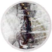 Breaking Bones Round Beach Towel