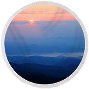 Breaking Dawn Round Beach Towel