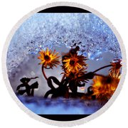 Round Beach Towel featuring the photograph Breaking Through by Susanne Still
