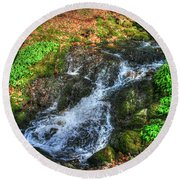 Round Beach Towel featuring the photograph Breath Deeply by Doc Braham