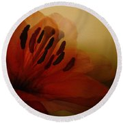 Breath Of The Lily Round Beach Towel