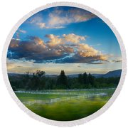 Breathtaking Colorado Sunset 1 Round Beach Towel
