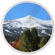 Breckenridge Colorado Round Beach Towel