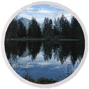 Brewster Lake North Bend Wa Round Beach Towel