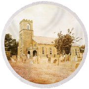 Brick Church In Montgomery Round Beach Towel