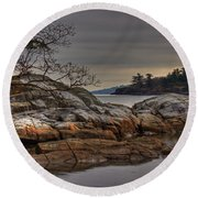 Tranquil Waters Round Beach Towel