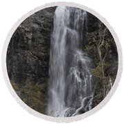 Bridal Veil  Round Beach Towel