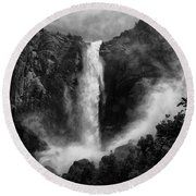 Bridalveil Falls Round Beach Towel