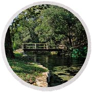 Bridge Of Serenity Round Beach Towel