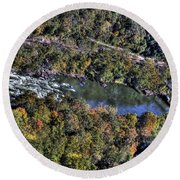 Bridge Over River Round Beach Towel