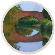 Bridge Over The Canal Round Beach Towel