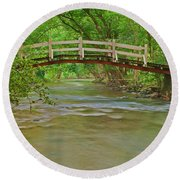 Bridge Over Valley Creek Round Beach Towel