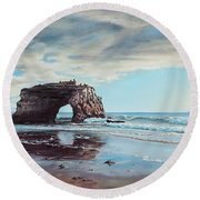 Bridge Rock Round Beach Towel