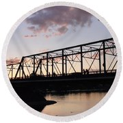 Bridge Scenes August - 1 Round Beach Towel