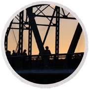 Bridge Scenes August - 2 Round Beach Towel