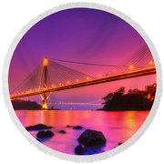 Bridge To Dream Round Beach Towel