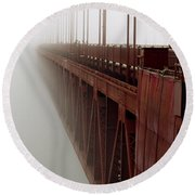 Bridge To Obscurity Round Beach Towel