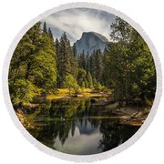 Bridge View Half Dome Round Beach Towel
