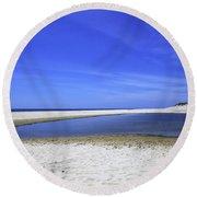 Bridgehampton Sky Round Beach Towel by Madeline Ellis