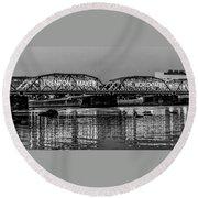 Trenton Makes Bridge Round Beach Towel