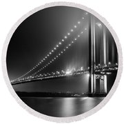 Bridging Verrazano Narrows Round Beach Towel