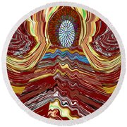 Bridge To Holy Grail Of Mystical Energies Whimisical Abstract By Navinjoshi At Fineartamerica.com  Round Beach Towel