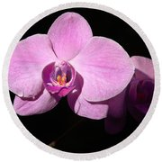 Bright Orchid Round Beach Towel