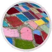 Bright Paving Stones Round Beach Towel
