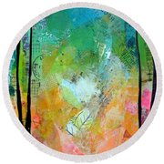 Bright Skies For Dark Days II Round Beach Towel