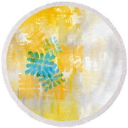 Bright Summer Round Beach Towel by Lourry Legarde