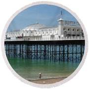 Brighton Pier - Sussex By The Sea Round Beach Towel
