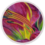 Brilliance Within Round Beach Towel by Marilyn  McNish
