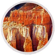 Round Beach Towel featuring the photograph Brilliant Bryce by Marty Koch