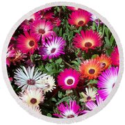 Round Beach Towel featuring the photograph Brilliant Flowers by Chalet Roome-Rigdon