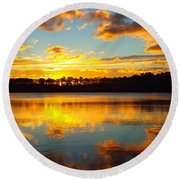 Round Beach Towel featuring the photograph Brilliant Sunrise by Dianne Cowen