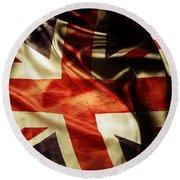 British Flag 1 Round Beach Towel