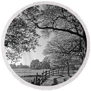 British Landscape Round Beach Towel