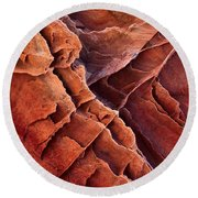 Brittle Rock Round Beach Towel