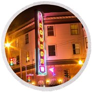 Broadway At Night Round Beach Towel by Suzanne Luft