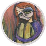 Broken Spirit Round Beach Towel by Tanielle Childers