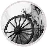 Broken Wheel Round Beach Towel