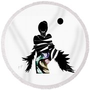 Broken Wings Round Beach Towel