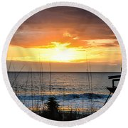 Brokenness And Beauty  Round Beach Towel by Mary Ward