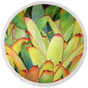 Bromeliads I Round Beach Towel by Roger Rockefeller