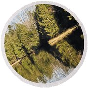 Bronson's Pond Round Beach Towel