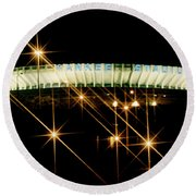 Bronx Night  Iv Yankee Stadium Round Beach Towel