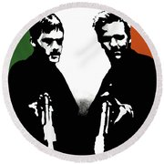 Brothers Killers And Saints Round Beach Towel by Dale Loos Jr